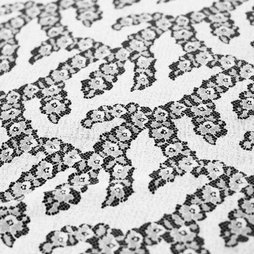 5072 Solstiss. Белое кружево с незабудками и кактусами