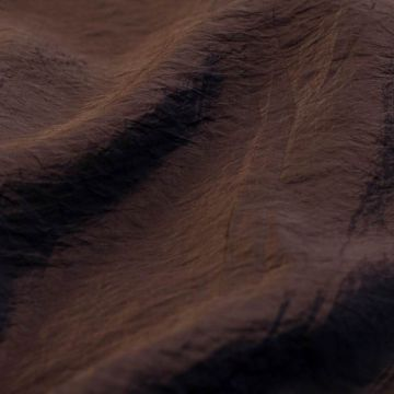 7362м Мятая ткань цв. горького шоколада (68%вискоза 32% п/амид). Италия.,