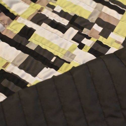 ф4256 Стеганая ткань с желто-черной геометрией