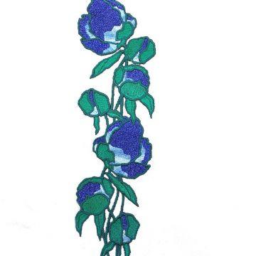 б0035 Bernini for Blues. Ветка с синими бутонами