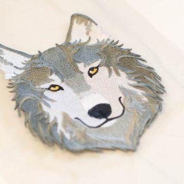 б0086 Волк барокко. Вышивка.