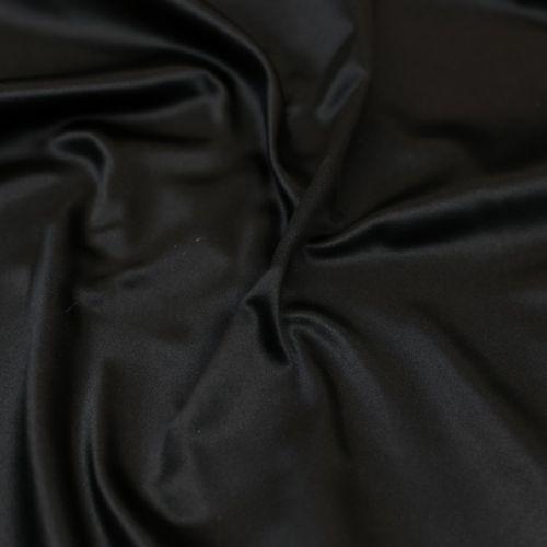 ф5893 Черный дюшес средней толщины (100% шелк). Италия.