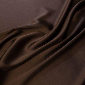 8417а Коричневый атлас стрейч (97%шелк 3%лайкра). Италия