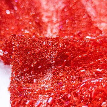 ф2010 Сплошная вышивка бисером Красная смородина