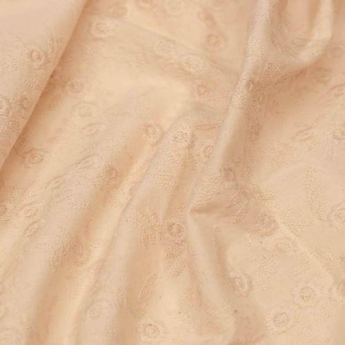 ТД0004 РЕТРО-ТКАНИ ИЗ СССР. Шитье цвета слоновой кости (100% хлопок).