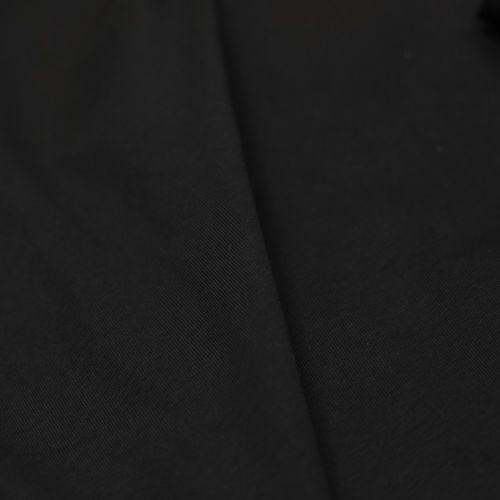 """ф5878 Черный трикотаж """"punto di Milano"""" (100% хлопок). Италия."""