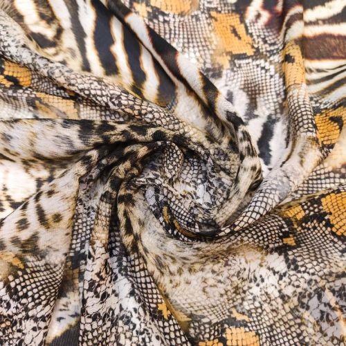 ф5948 Тигрово-змеиный тандем. Жоржет. (100% шелк). Италия.