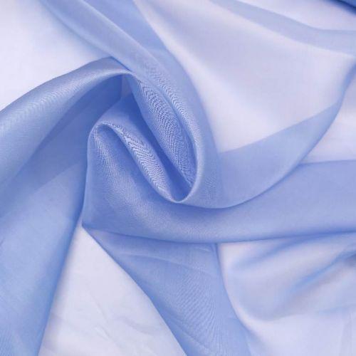 ф5962 Лавандово-голубая органза (100% шелк). Италия