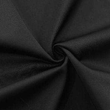 ф5827 Черный сатин средней плотности (100% хлопок). Италия.