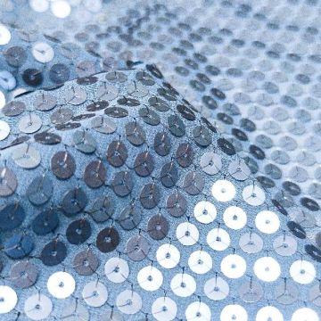7070 Сплошные матовые синие блестки на шифоне.