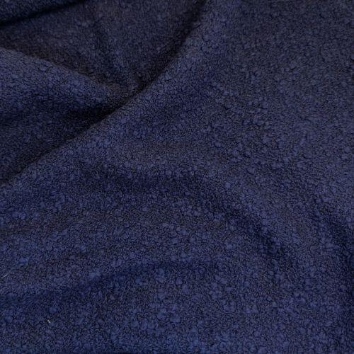 ф2955 Versace Однотонная синяя буклированная рогожка