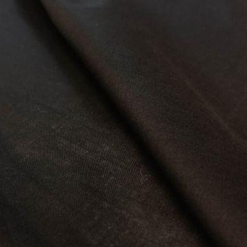 ф5764 Черный тонкий сатин.(99% хлопок 1%эластан)