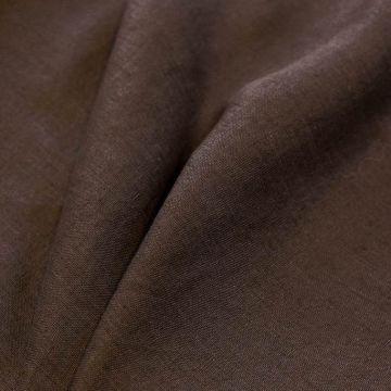 ф5364 Коричневый лен средней толщины (100% лен).