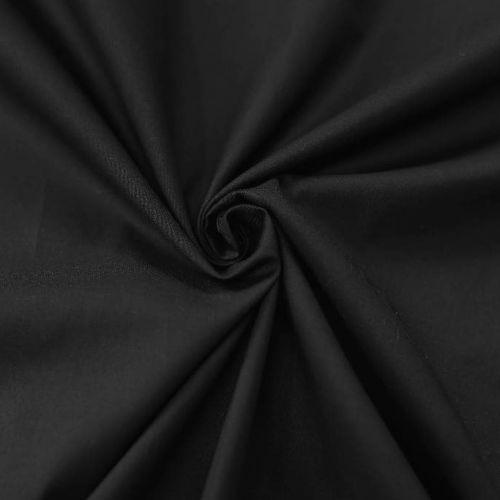 ф5828 Черный тонкий сатин (98% хлопок 2%эластан). Италия.
