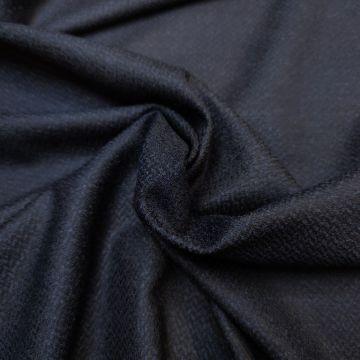 """ф5528 Dior.Сине-черный твид """"карликовая елочка"""" (79%шерсть 20%шелк 1%эластан)."""