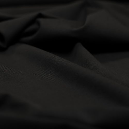 """ф5881 Черный трикотаж """"кулирка"""" (100% хлопок). Италия."""
