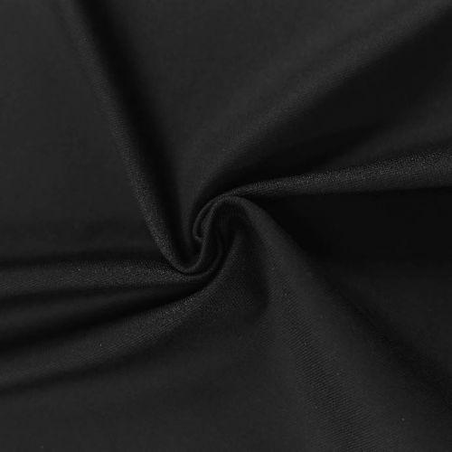 ф5829 Шикарный плотный черный габардин (100% хлопок). Италия.