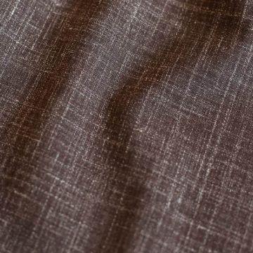 ф5580 Armani. Коричневый лен в мелованую полоску (75%лен 25%шерсть)