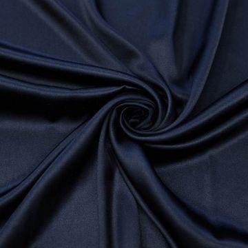 ф5190 Темно-синий атлас стрейч (95%шелк 5% эластан).