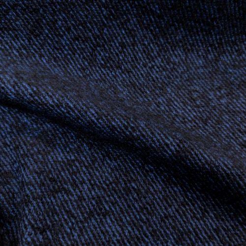 ф5488 Max Mara. Сине-черный твид-диагональ (50% верджинская шерсть 50%альпака).