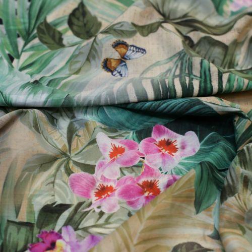 ф5991 Gucci. Благородные зебры и веселые бабочки. Шифон стрейч (97% шелк 3%эластан). Италия.