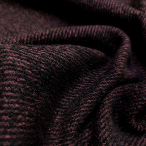 ф5489 Max Mara. Малиново-черный твид-диагональ (50% верджинская шерсть 50%альпака).