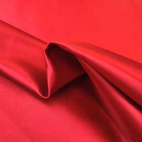 ф5965 Уплотненный красный дюшес (50% шелк, 50% хлопок). Италия