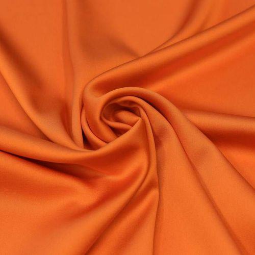 ф5191 Апельсиновый атлас стрейч (96%шелк 4% эластан).