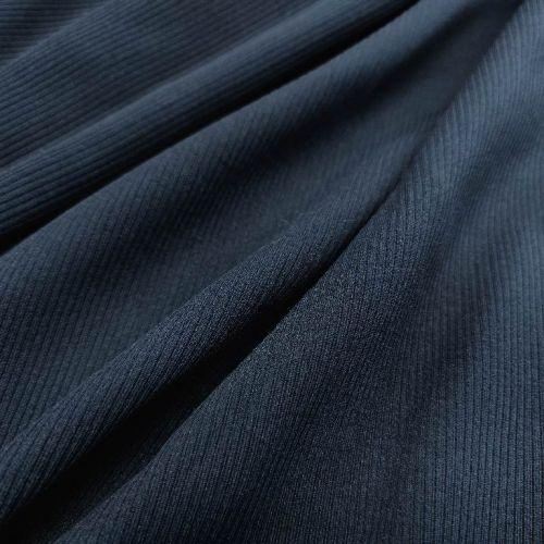 ф5839а Чернильно-синяя ткань с фактурной полоской (100% п/э)