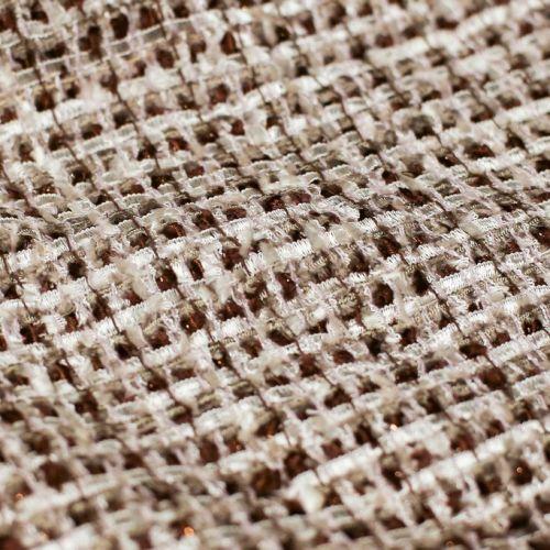 ф3401 Кремово-шоколадная рогожка с ленточкой