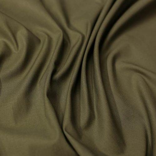 ф5686 Однотонная оливковая ткань (98% хлопок, 2% эластан)