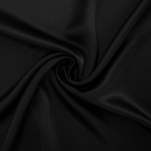 0068 Черный сатен (100% шелк).