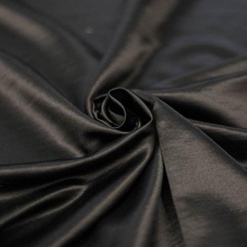 8374 Черный теплый атлас (65% шерсть 35% шелк)