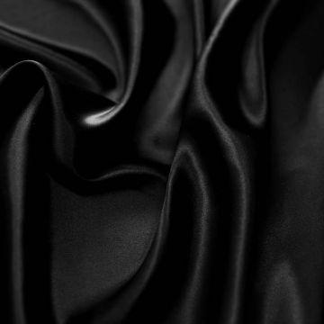 ф5193 Черный атлас (100%шелк).