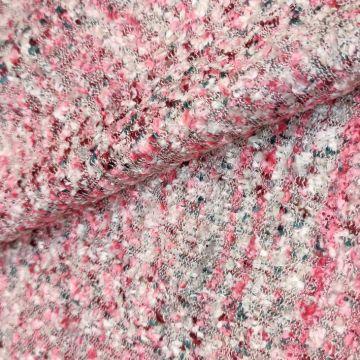 ф4471 Светлая рогожка с розовой полоской
