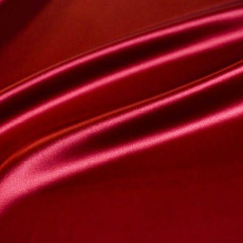 ф4706 Атлас стрейч цв. красный Valentino/ (97% шелк 3% эластан). Италия.