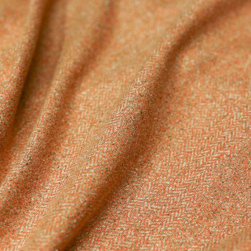 ф2853 Бежево-апельсиновый твид-елочка