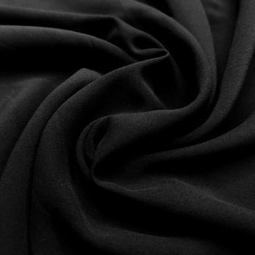 ф5877 Черный креп (100% вискоза). Италия.