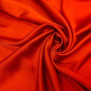 ф5879 Красный креп цв. Valentino (55%вискоза 45%ацетат). Италия.