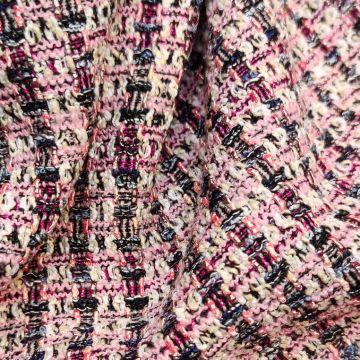 ф3908 Розово-кремовая рогожка
