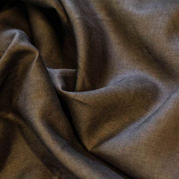 ф4071 Loro Piana. Темно-коричневый 100% лен.