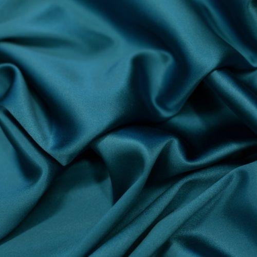 4237 Толстый сине-бирюзовый атлас стрейч