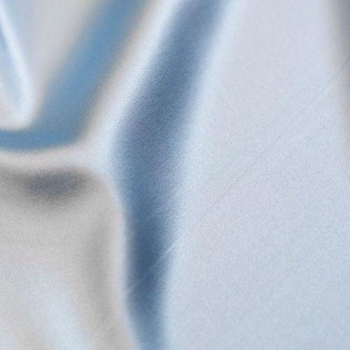 ф4661 Голубой атлас стрейч (97% шелк 3% эластан). Италия.