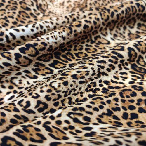 ф5852 Blumarine. Детеныш леопарда. Крепдешин (96% шелк 4%эластан). Италия.