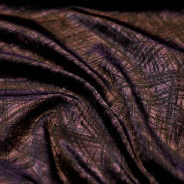 ф5353 Blumarine. Сливовый бархат с черными штрихами (100% хлопок).