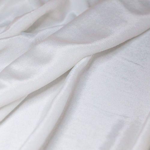 ф4727 Белый пан-бархат (88% Вискоза 12% шелк). Италия.