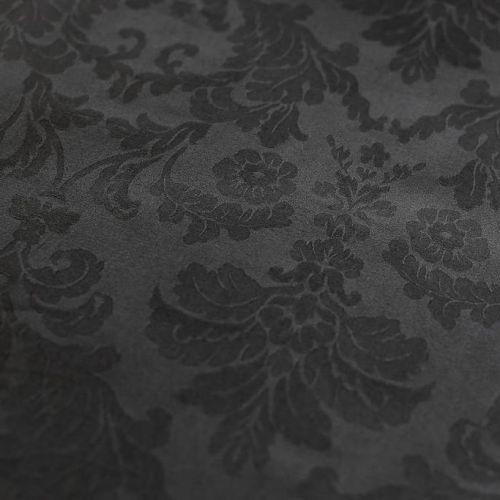ф5664 Черный жаккард с цветами и вьюнами (98%хлопок 2%эластан)