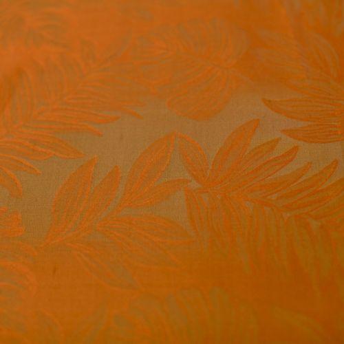 4143 Рыже-золотистый гобелен с листьями