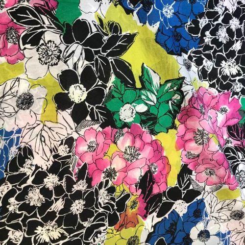 Ф0964 Ungaro Яркие розовые синие и черные букеты