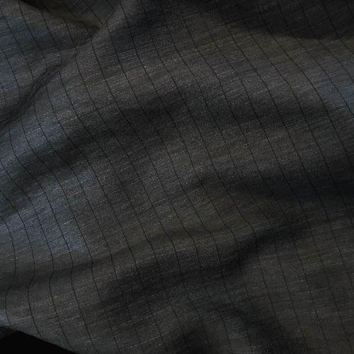 8449 Armani Серая ткань в полоску с блеском